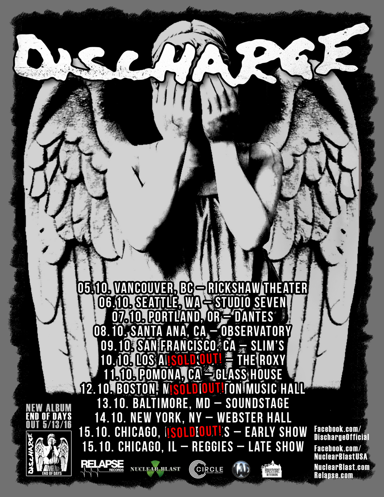 Image result for discharge tour 2016