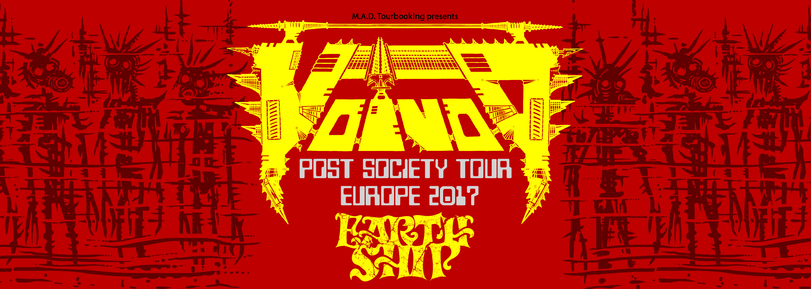 VOIVOD - POST SOCIETY TOUR EUROPE 2017 PART II