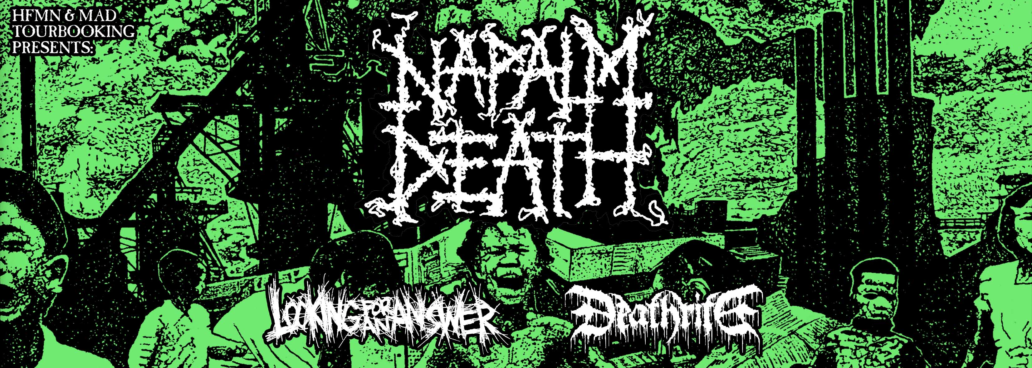 NAPALM DEATH & DEATHRITE - SPAIN TOUR