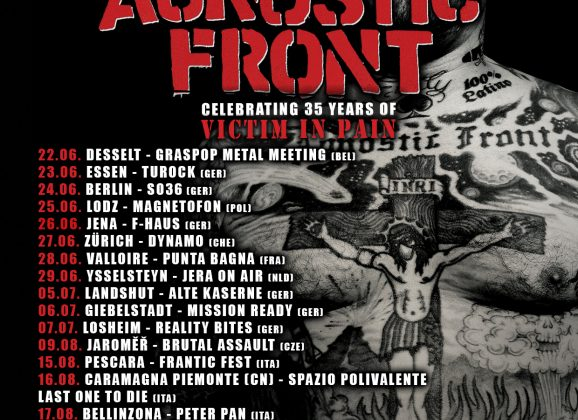 "AGNOSTIC FRON celebrating 35 years of ""Victim In Pain"""