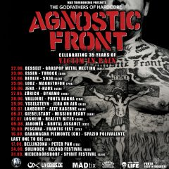 "AGNOSTIC FRONT celebrating 35 years of ""Victim In Pain"""